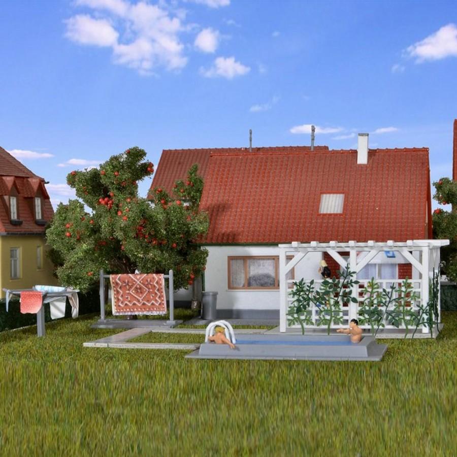 piscine et accessoire terrasse ho 1 87 kibri 38148. Black Bedroom Furniture Sets. Home Design Ideas