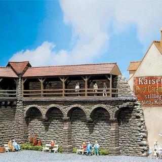 Vieux mur d'enceinte fortifiée-HO-1/87-FALLER