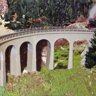 Viaduc courbe 1 voie-N-1/160-KIBRI