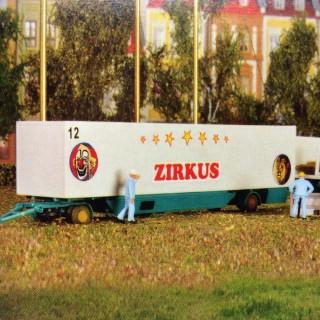2 remorques de camion cirque-HO-1/87-KIBRI 14658