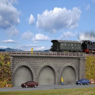 Pont droit 1 voie à arcade N-1/160-KIBRI 37670