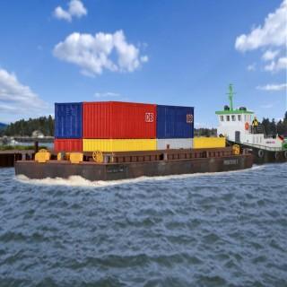 Barge de transport produit en vrac-HO-1/87-KIBRI 38524