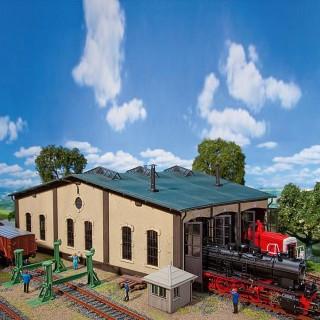 Rotonde pour 3 locomotives avec accessoires-HO-1/87-FALLER 120277