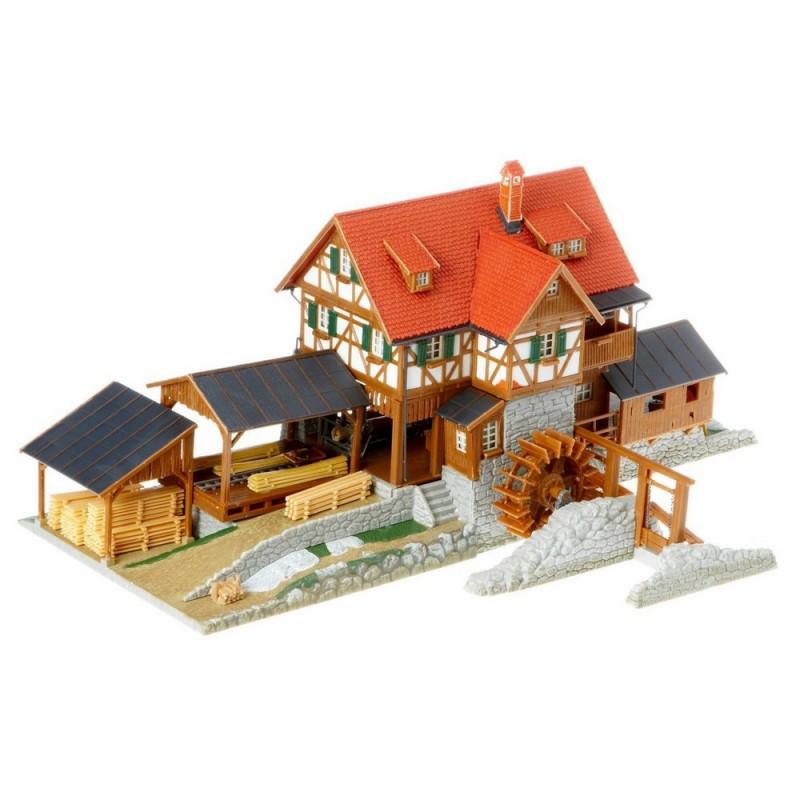 Scierie avec moulin ho faller 130229 modelisme ferroviaire for Moulin en bois pour jardin