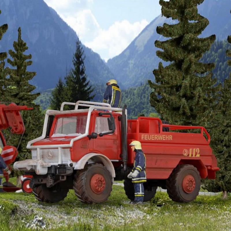 camion de pompier unimog mercedes ho kibri 18270 diorama neuf kibri. Black Bedroom Furniture Sets. Home Design Ideas