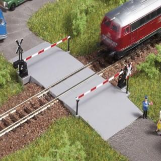 Passage à niveau manuel une voie droite ou courbe-N-1/160-AUHAGEN 44637