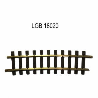 Rail courbe R5 4640mm 7,5 degrés train de jardin -G-1/28-LGB 18020