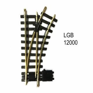 Aiguillage droit droit 300mm R1 1200mm 30 degrés train de jardin -G-1/28-LGB 12000