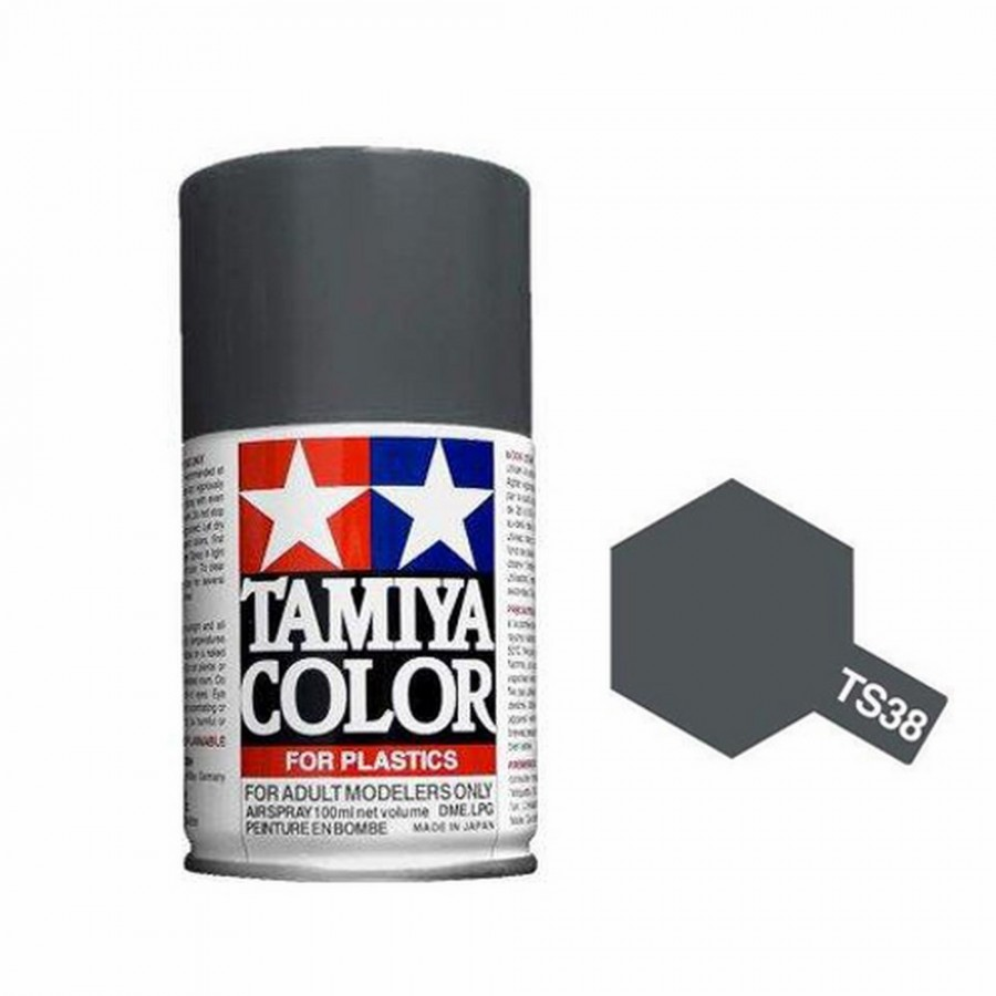 gris acier brillant spray de 100ml tamiya ts38. Black Bedroom Furniture Sets. Home Design Ideas