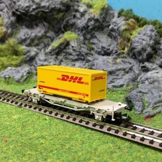 Wagon porte conteneur DHL 2 essieux SBB epVI-N-1/160-FLEISCHMANN 931581B