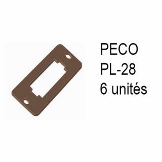 6 supports pour levier de commande -Toutes échelles-PECO PL-28