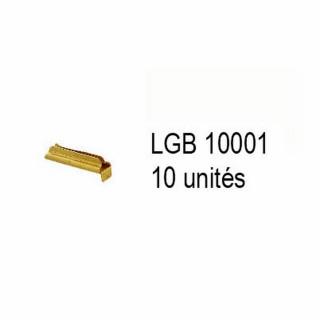 10 éclisses métalliques pour train de jardin -G-1/28-LGB 10001