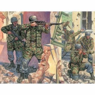 50 figurines Allemandes parchutiste 2ème guerre mondiale-1/72-ITALERI 6045