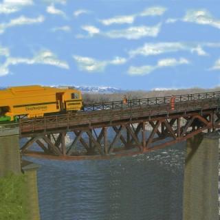 Pont droit métallique 1 voie 340mm-HO-1/87-KIBRI 39303