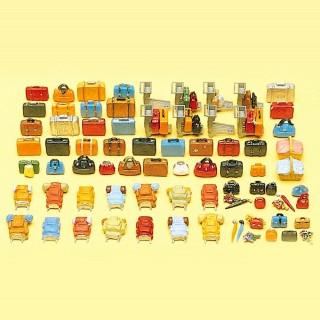 90 bagages valises et sacs... à peindre HO-1/87-PREISER 175005