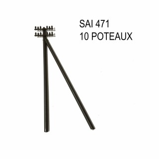 10 poteaux télégraphe à monter -HO-1/87-SAI 471