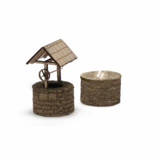 2 puits de décoration à monter -HO-1/87-SAI 750