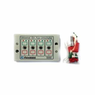 Boitier de 4 inverseurs pour éclairages, signaux, etc...-Toutes échelles-VIESSMANN 5550