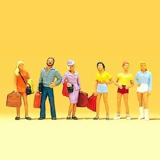 6 jeunes voyageurs pour vos dioramas HO-1/87-PREISER 10123