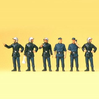 6 pompiers français HO-1/87-PREISER 10232