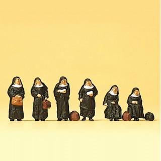 6 sœurs religieuses N-1/160-PREISER 79128