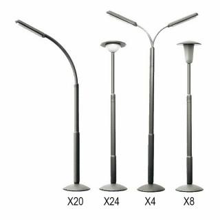 56 lampadaires non fonctionnels -N-1/160 -FALLER 272453