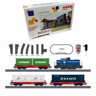 Coffret de démarrage train conteneur Mfx sound-HO-1/87-MARKLIN 29452