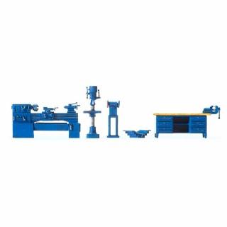 Machines outils avec bureau d'atelier HO-1/87-PREISER 17706