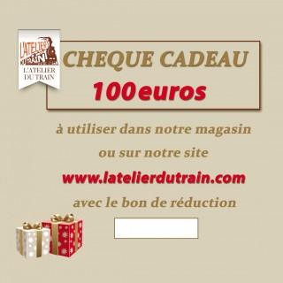 Chèque cadeau 100 euros à offrir
