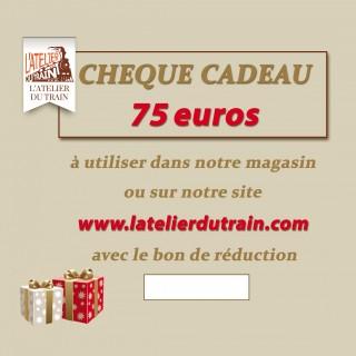 Chèque cadeau 75 euros à offrir