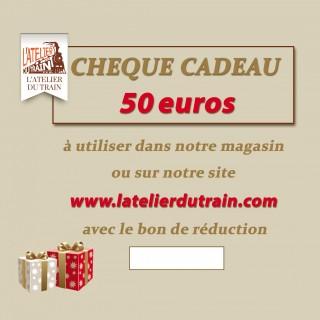 Chèque cadeau 50 euros à offrir
