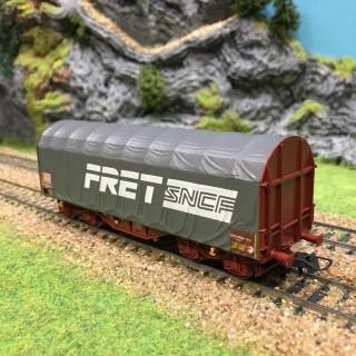 Wagon bâché Fret Sncf époque VI -HO-1/87-ROCO 76443