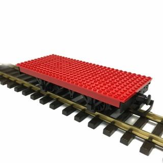 Wagon plat plaque Lego train de jardin -G-1/28-LGB 94063