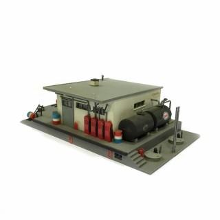 Dépôt de carburant maquette montée occasion -HO-1/87-DEP10-49
