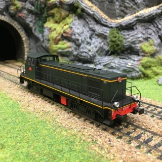 Locomotive 040 DE 121 La plaine Sncf époque III -HO-1/87-R37 41023