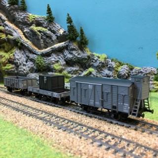 3 wagons Ocem 19/29 Sncf ep II -HO-1/87-LSMODELS 30274 DEP39-90