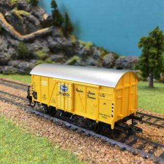 Wagon couvert Blametco DB -HO-1/87-MARKLIN 48759 DEP39-33