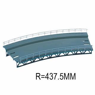 Plan de roulement courbe R 437.5mm 1 voie-HO-1/87-FALLER 120476