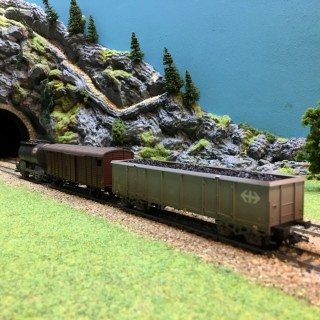 3 wagons marchandises SBB-CFF-HO-1/87-MARKLIN 48807 DEP39-41