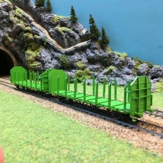 2 wagons Laaps DB transport de bois épVI -HO-1/87-LILIPUT 235240