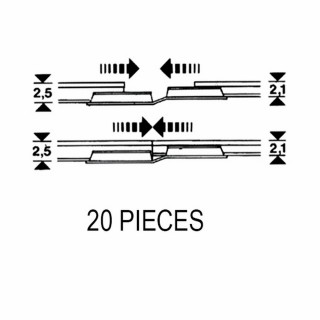 20 éclisses d'adaptation code 83 à code 100-HO-1/87 -FLEISCHMANN 6437