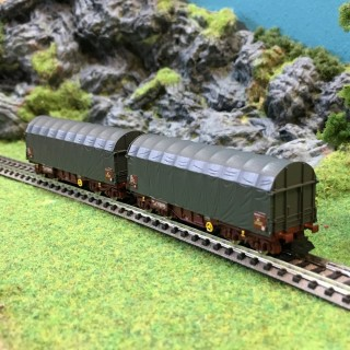 2 wagons bâchés Shimms Sncf ep V et VI -N-1/160-FLEISCHMANN 837920