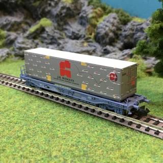 Wagon porte conteneur J.H. Mesguen Sncf ep V -N-1/160-FLEISCHMANN 845348