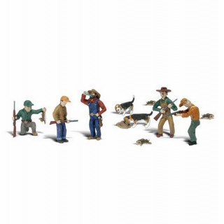 5 chasseurs et trappeurs -HO-1/87-WOODLAND SCENICS A1903
