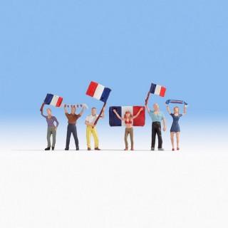 6 supporters français -HO-1/87-NOCH 15974