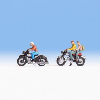 2 motards avec passager -HO-1/87-NOCH 15904