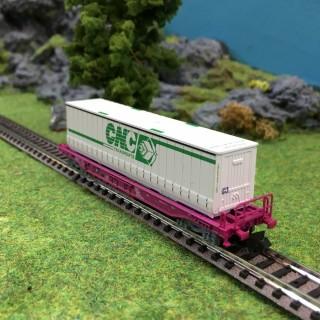 Wagon porte conteneur CNC Sncf ep V -N-1/160-FLEISCHMANN 845365