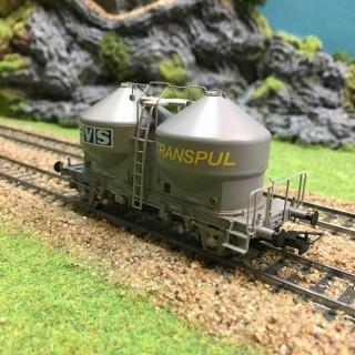 Wagon silo Ucs EVS Sncf -HO-1/87-JOUEF HJ6095 DEP13-129