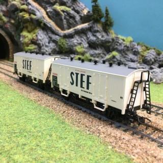 2 wagons STEF Sncf -HO-1/87-JOUEF DEP25-15