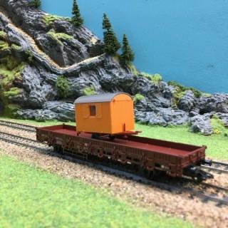 Wagon plat travaux DB -HO-1/87-MARKLIN 00753 DEP17-356